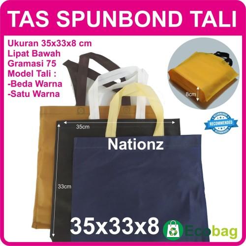 Foto Produk (35x33x8 cm) Tas Kain / Goodie Bag / Spunbond / goody polos dari Nationz