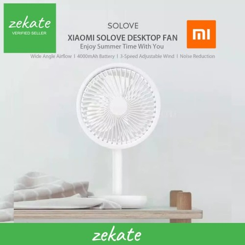 Foto Produk Xiaomi SOLOVE Desktop Fan F5 4000mAh Kipas Meja Adjustable Wind Speed - Merah Muda dari zekate
