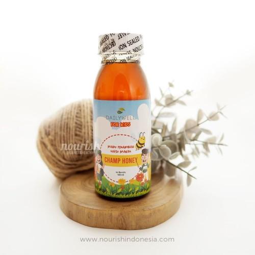 Foto Produk Dailywell Champ Honey for kids (Madu Penambah Nafsu Makan anak)100 ml dari Nourish Indonesia