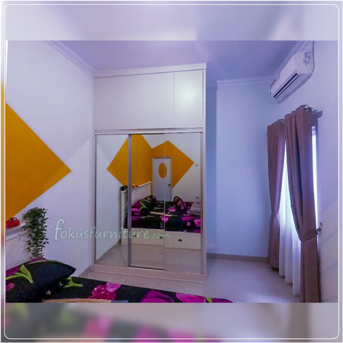 Foto Produk Wardrobe/lemari pakaian minimalis hpl dari Fokus furniture