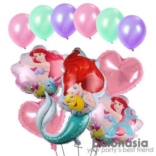 Foto Produk Balon Set Mermaid Hati Ariel dari Balonasia