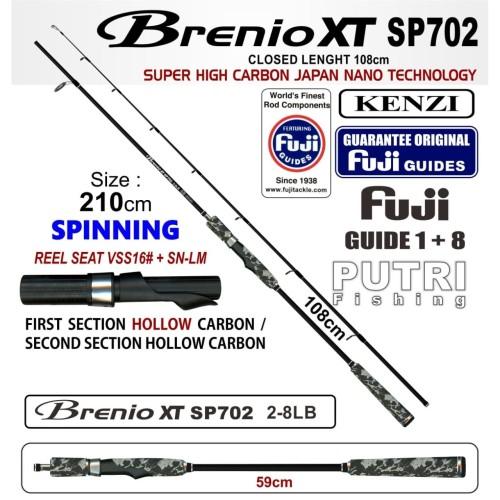 Foto Produk JORAN KENZI BRENIO XT SP702 2-8Lb SPINNING Fuji Guides dari Putri Fishing-