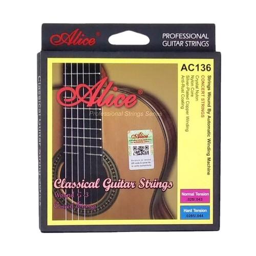 Foto Produk Alice AC136 Senar Gitar Klasik Crystal Nylon Anti Karat - Normal Tension dari Grandia Shop