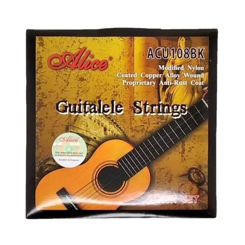 Foto Produk Alice ACU108BK Black Nylon Senar Guitalele Strings dari Grandia Shop
