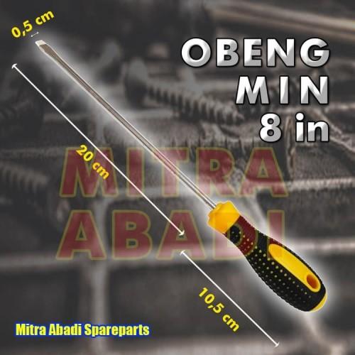 Foto Produk Obeng Minus atau Gepeng / Screwdriver Gagang Karet 21 cm Baut Besar dari Mitra Abadi Spareparts