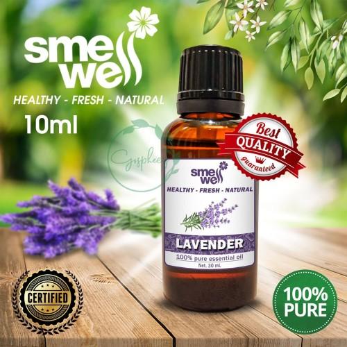 Foto Produk Pure Essential Oil Lavender Minyak Organik Smell Well 100% Alami Murni - 10ML dari NUTRIHERBS - Herbal, Supplements, Nature, Health, Human Care