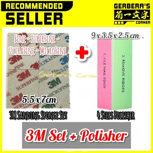 Foto Produk 3M Sanding Sponge Set 5.5 x 7 cm + 4 Grades Polisher Amplas Gundam dari Gerbera's Corner