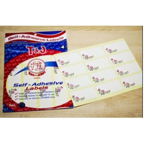 Foto Produk Label Undangan Motif Bunga Tom & Jerry No. 103 dari Paperloka