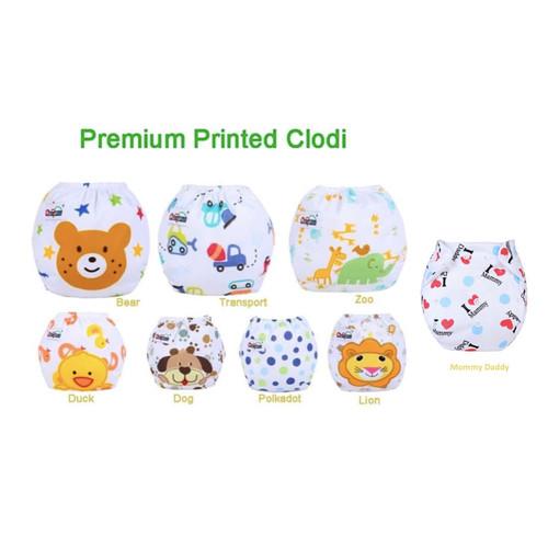 Foto Produk PRINTED Clodi Diaper Popok Kain Berkancing | Popok Bayi Anti Bocor dari bobo baby shop
