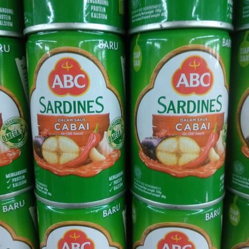 Foto Produk ABC Sardines Dalam Saus Cabai 155g dari cubeecubee