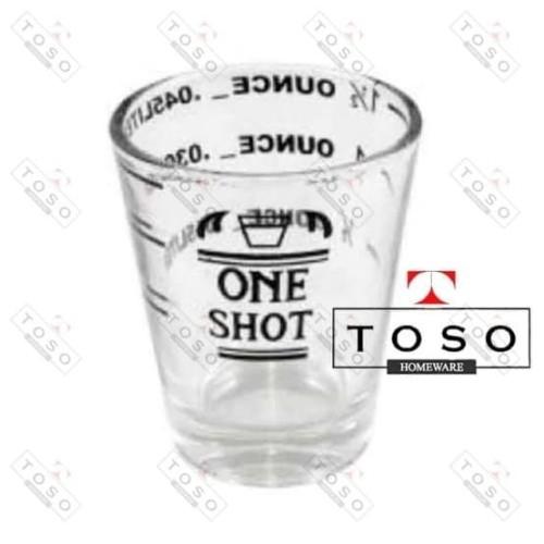 Foto Produk Yami Espresso One Shot Glass Gelas Ukur 1 Ounce Glass dari Toso Official