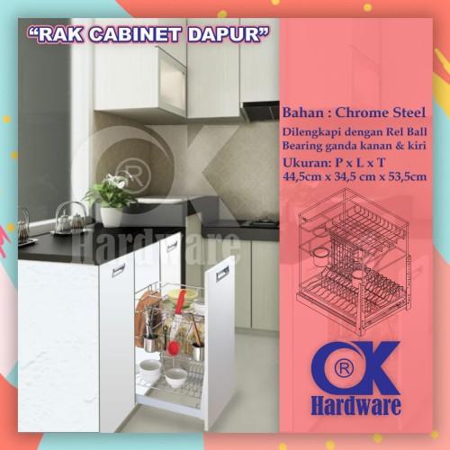 Foto Produk PROMO Rak Piring Rak Botol Drawer Basket OK 025E for Kitchen Cabinet dari WINSTON-OK OFFICIAL STORE