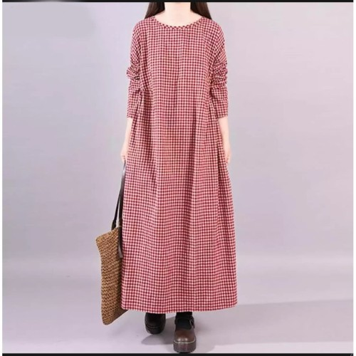 Foto Produk Maxi Kotak merah [Dress 0140] TGQ dari Super Model