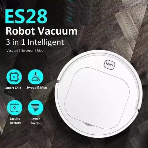 Foto Produk Robot Vacuum Cleaner Lantai ES23 ES28 Pel Lantai Otomatis - ES23 PUTIH dari JJRC Indonesia