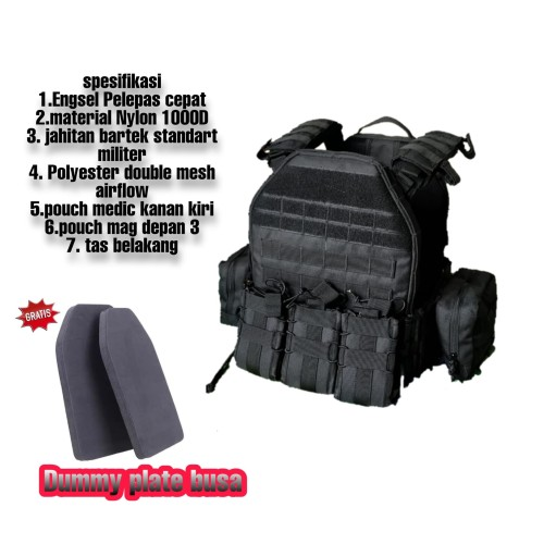 Foto Produk bodyvest blackmamba flashmod dan waterbag rompi tactical dari Mardo combat