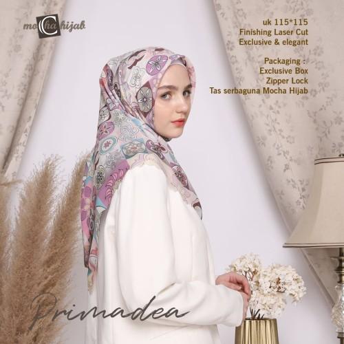 Foto Produk Kerudung Modern Motif Hijab Segi Empat Mocha Ultrafine Primadea dari mochahijabbdg