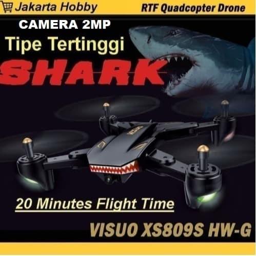 Foto Produk Drone Murah Visuo Battle SHARK XS809S with 20minutes Flight 100% Ori dari RCmania Hobby