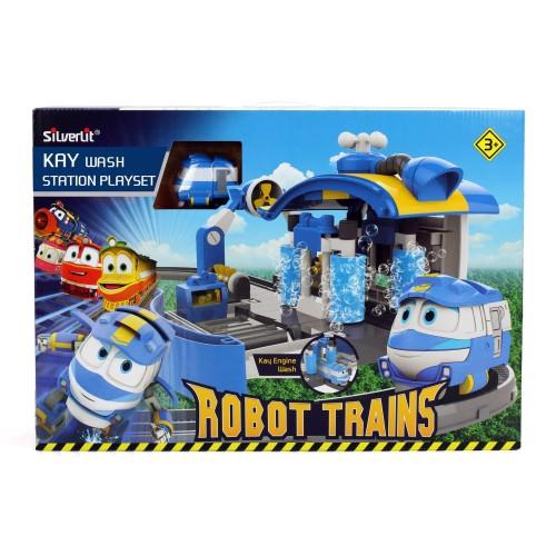 Foto Produk Robot Trains Kays Car Washing Station Playset 80171 Mainan Original dari Robocarpoli Official