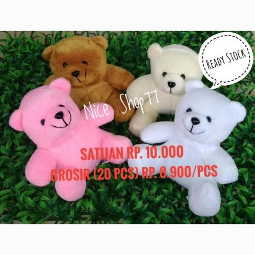 Foto Produk Boneka Bear Polosan / Bear Mini / Teddy Bear Murah - Putih dari Nice Shop77