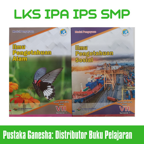 Foto Produk LKS SMP IPA IPS Kelas 7 8 9 Semester 1 Ganjil - Harga 1 Buku - IPA Kelas 7 dari Pustaka Ganesha