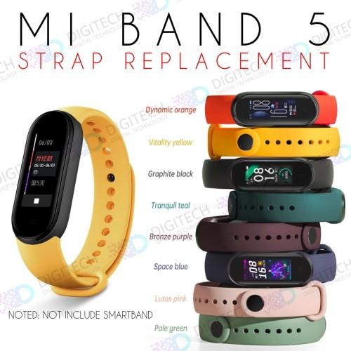 Foto Produk MI BAND 5 Strap Replacement Single Colour Miband Strap Smartband - Red Salem dari Digital Technology Official Store