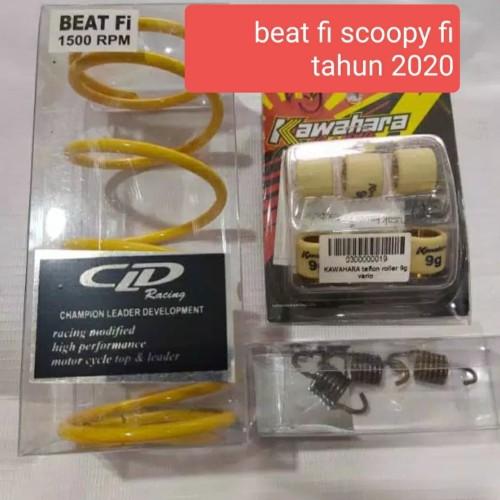 Foto Produk Per cvt roller pir kampas kawahara beat fi scoopy fi 2020 sepaket dari setia racing motor