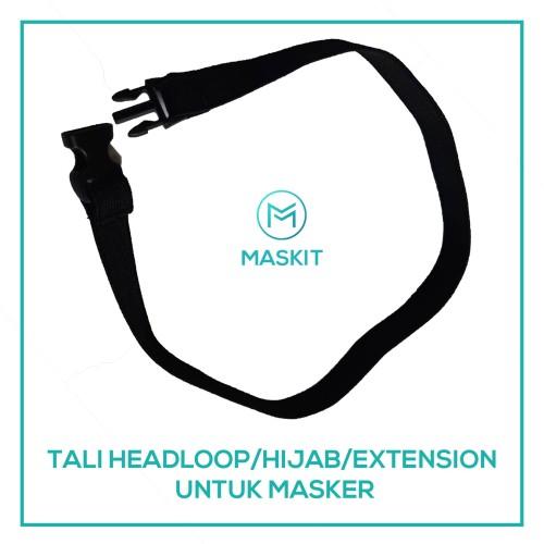 Foto Produk TALI HIJAB / HEADLOOP / EXTENSION MASKER KAIN 3 PLY MASKIT ANTI VIRUS dari Maskit Store