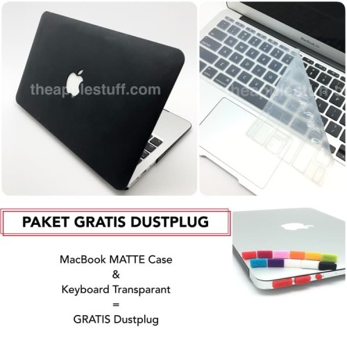 Foto Produk PAKET GRATIS DUSTPLUG MacBook MATTE Case Bundling Package dari The Apple Stuff