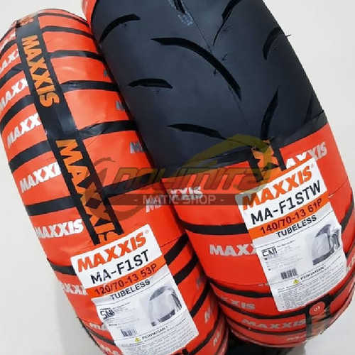 Foto Produk Ban Lebar Maxxis MA-F1ST Depan Belakang 120/70 - 13 & 140/70 - 13 NMAX dari NoLimitz Maticshop