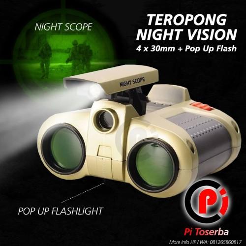 Foto Produk Teropong Night Scope 4 x 30mm Binoculars with Pop-Up Light dari Pi Toserba