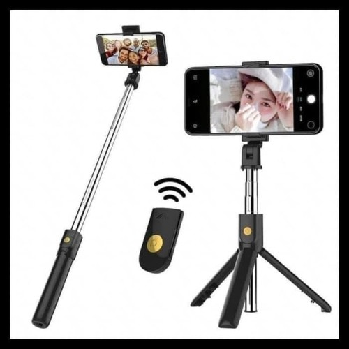 Foto Produk Tripod Selfie Stick 3 In 1 K07 Tongis HP Remote Bluetooth dari PITUDUS