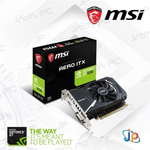 Foto Produk VGA MSI Geforce GT 1030 AERO ITX OC 2GB - GT1030 2 GB DDR5 dari Jaya PC