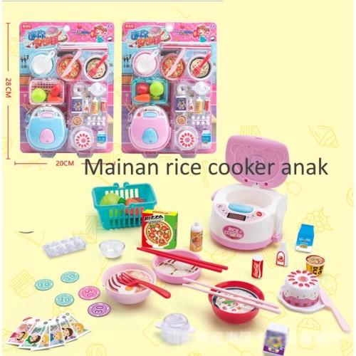 Foto Produk Mainan rice cooker anak, Mainan masak nasi anak, pretend play anak - Merah Muda dari Lovely Gubuk