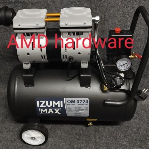 Foto Produk Mesin Compressor Oilless Kompresor oil-less angin 3/4HP 24L Izumi Jpn dari AMD HARDWARE