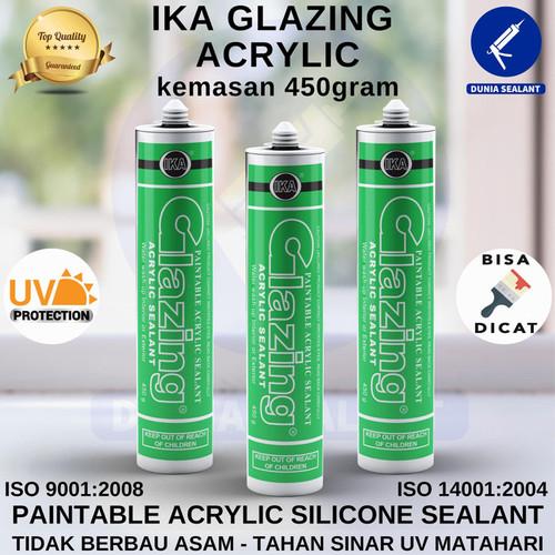 Foto Produk Silicone Sealant Lem Kaca Silikon Silen IKA Glazing Acrylic - Putih dari Dunia Sealant