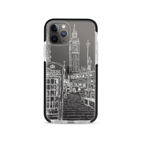 Foto Produk Romantic London (WHITE) - X-Tech Bumper Case - Black dari The Case Bible