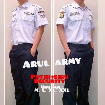 Foto Produk Seragam setelan pdh security / setelan pdh satpam / setelan pdh putih dari Arul army