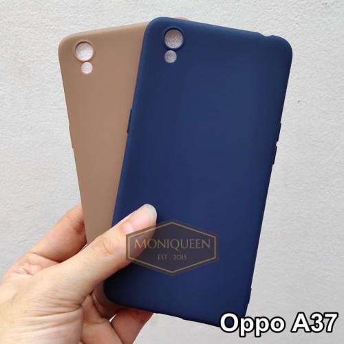 Foto Produk Oppo A37 Neo 9 CANDY CASE Softcase Babyskin case Macaron SoftCase - Navy dari MoniQueenShop