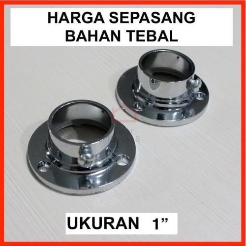 """Foto Produk Bracket Topi 1"""" inch / Dop Penyangga Pipa Bulat Stainless Gantungan dari Sinar Rezeki 8"""
