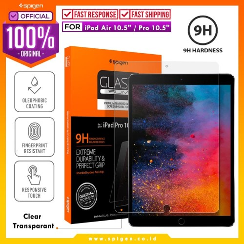 Foto Produk Tempered Glass iPad Pro 10.5 inch / iPad Air 3 Spigen Glas.tR SLIM HD dari Spigen Official