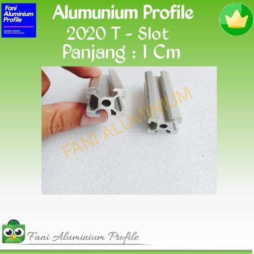 Foto Produk Aluminium profile series 2020 T-Slot PJG 1 Cm dari Fani Aluminium Profile