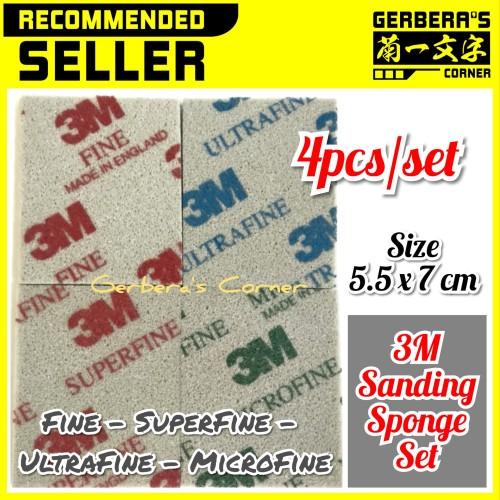 Foto Produk Sanding Sponge 3M Set - Fine - Super - Ultra - Micro - AMPLAS GUNDAM dari Gerbera's Corner