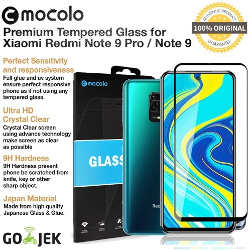 Foto Produk Original Mocolo Full Cover Tempered Glass Redmi Note 9 Pro / Note 9 - Redmi Note 9 dari GadgetLifestyle Official