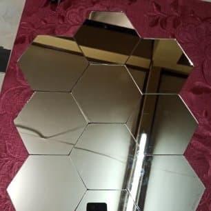 Foto Produk kaca hexagonal ASLI CERMIN ukuran 18,5 cm dari Belanja_murah21