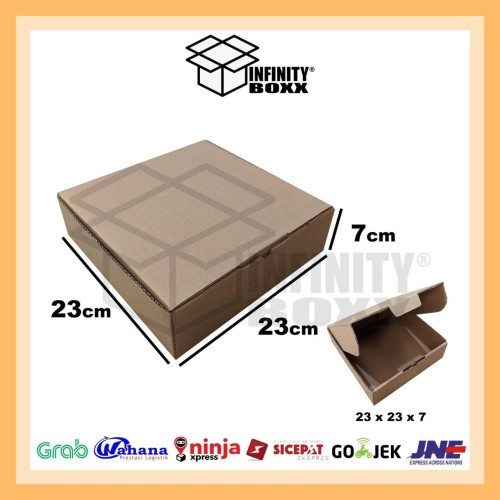 Foto Produk kotak kardus pizza box die cut ukuran 23x23x7 dari infinity boxx