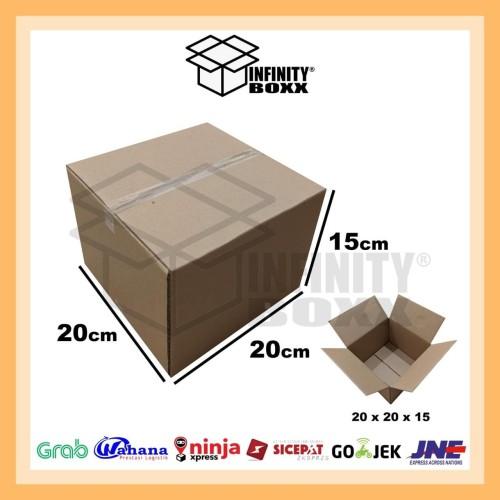 Foto Produk kardus box packaging packing 20x20x15 cm dari infinity boxx