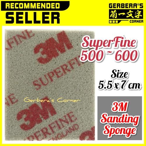 Foto Produk 3M Sanding Sponge SuperFine - Amplas Gundam Model Kit dari Gerbera's Corner