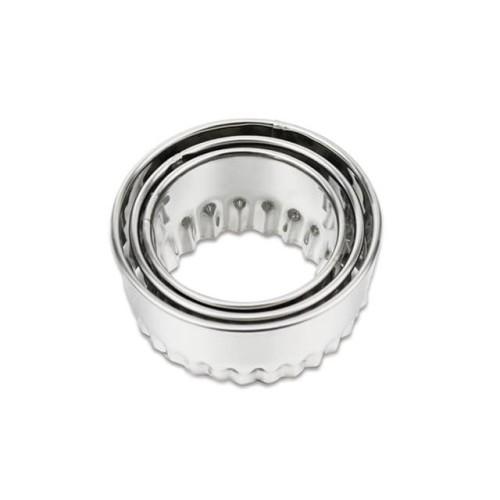 Foto Produk Set 3 Pc Ring Cookies Cutter Cetakan Adonan Bulat Gerigi Stainless - Gelombang dari SeekNDeal