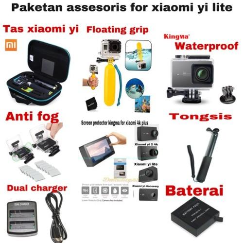 Foto Produk paket assesoris for xiaomi yi lite - yi 4k dan xiaomi yi 4k plus dari inayahstore124