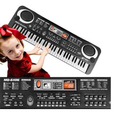 Foto Produk Mainan Keyboard Piano Anak Digital Electronic Keyboard 61 Keys - Hitam dari conngallery